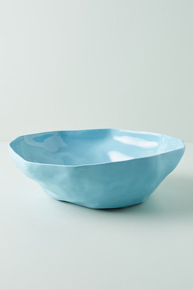 Anthropologie Oxford Serving Bowl By in Blue Size PASTA