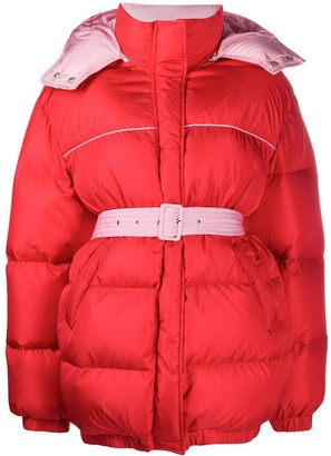 MSGM Belted Waist Puffer Jacket