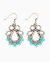 Charming charlie Maya Beaded Fringe Earrings
