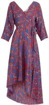 Diane von Furstenberg Elsden-print silk-crepe wrap dress
