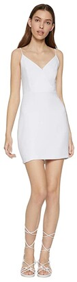 BCBGeneration Cocktail Surplice Cami Woven Dress - GEF6272037 (Optic White) Women's Dress