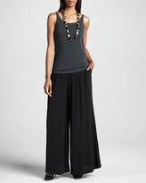 Eileen Fisher Silk Georgette Crepe Wide-Leg Pants, Women's