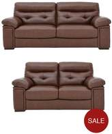 Violino Valencia Premium Leather 3 + 2 Seater Sofa Set