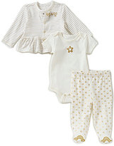 Baby Starters Baby Girls Newborn-9 Months Striped Ruffle Bodysuit & Footed Pants Set