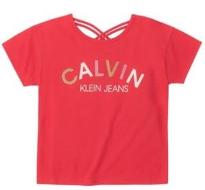Calvin Klein Big Girls Multi Calvin Tee