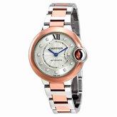 Cartier Women's Ballon Bleu De 33mm Two Tone Steel Bracelet Steel Case Automatic Watch W3BB0006