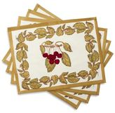 Couleur Nature Cherries Printed Placemats, Set of 4