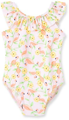 Little Me Flamingo Floral One-Piece Swimsuit