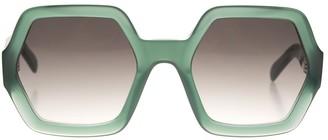 Celine Green Oversize Sunglasses