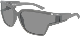 Balenciaga Men's Square Unisex Injection Sunglasses