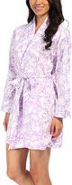 Malabar Bay Otomi Purple Organic Cotton Sateen Short Robe