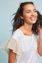 Anthropologie Seafarer Ruffled Top
