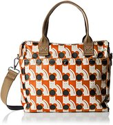 Orla Kiely Poppy Cat Print Zip Messenger Convertible Shoulder Bag