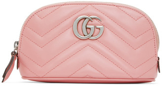 Gucci Pink Small GG Marmont 2.0 Cosmetic Pouch