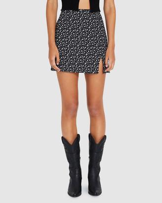 Don't Ask Amanda Polly Spot Split Mini Skirt