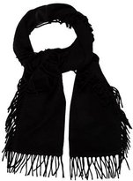 Saint Laurent Logo Knit Scarf