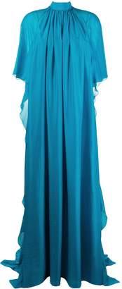Alberta Ferretti Waterfall Ruffle-Embellished Gown