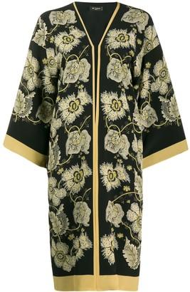 Etro Floral Print Duster Coat