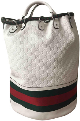 Gucci White Leather Travel bags