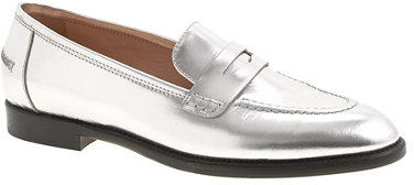 J.Crew Collection mirror metallic penny loafers