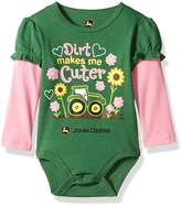 John Deere Baby Girls' Long Sleeve Bodysuit