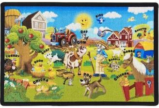 "Zoomie Kids Goettingen Ikat Tufted Green Area Rug Rug Size: Rectangle 4'4"" x 6'3"""