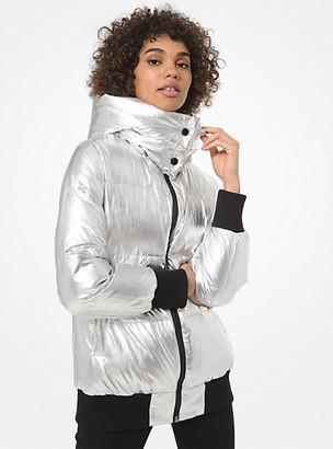 Michael Kors Ribbed-Trim Puffer Jacket