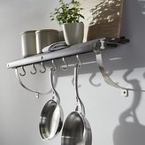 Crate & Barrel J.K. Adams Grey Wall Mounted Pot Rack