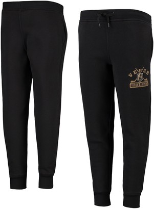 Outerstuff Youth Black Vegas Golden Knights Pro Game Fleece Sweatpants