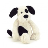 Jellycat Black and Cream Bashful Puppy