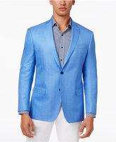 MICHAEL Michael Kors Men's Classic-Fit Light Blue Herringbone Sport Coat