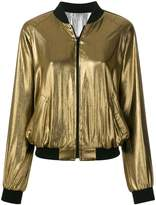 Barbara Bui zipped metallic bomber jacket