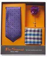 Ben Sherman 3pc Norwood Neat Silk Tie Set.