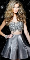 Faviana Leatherette Homecoming Dress