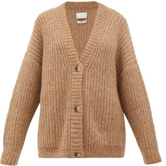 LAUREN MANOOGIAN Fisherman Chunky-knit Alpaca-blend Cardigan - Womens - Camel