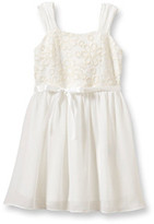 Amy Byer Girls' 4-6X Ivory Sleeveless Lace Bodice Dress