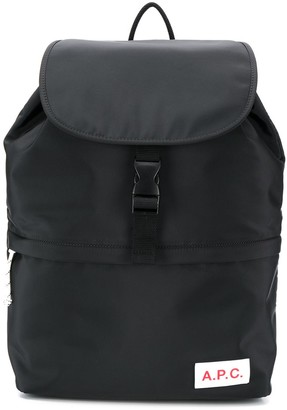 A.P.C. flap top backpack
