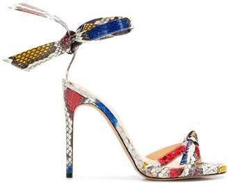 Alexandre Birman Colour-Block Heel Sandals
