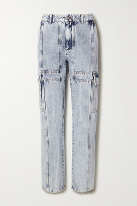 MM6 MAISON MARGIELA Acid-wash High-rise Straight-leg Jeans - Light denim