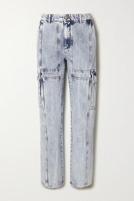 MM6 MAISON MARGIELA Acid-wash High-rise Straight-leg Jeans - Light denim