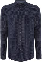 Michael Kors Slim Fit Geo Print Long Sleeve Shirt