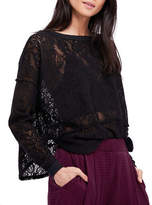 Free People Sheer Crew Pullover