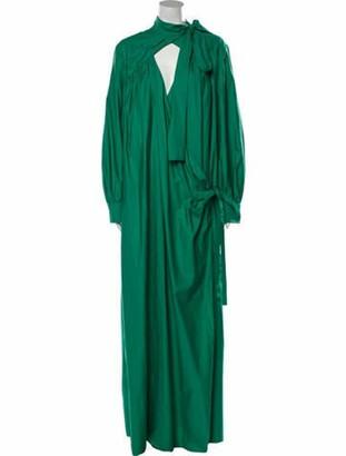 Rosie Assoulin Plunge Neckline Long Dress w/ Tags Green