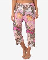 Ellen Tracy Plus Size Printed Cropped Pajama Pants
