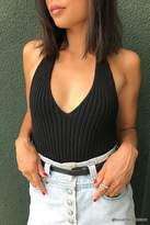 Forever 21 Ribbed Knit Halter Top