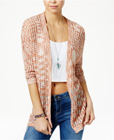 American Rag Space-Dyed Open-Front Cardigan, Created for Macy's