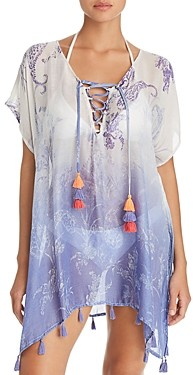 Surf.Gypsy Ombre Paisley Print Tunic Swim Cover-Up