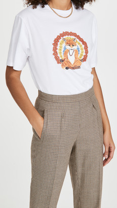 MAISON KITSUNÉ Flower Fox Print Tee Shirt