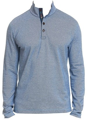 Robert Graham Leonard Pique Cotton Quarter-Button Pullover