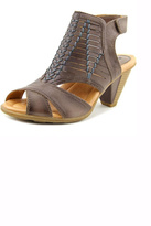 Earth Grey Leather Heeled Sandal